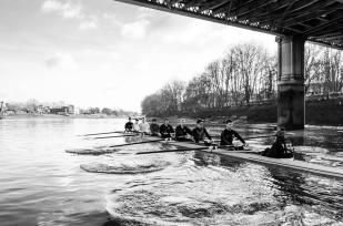 UCL Senior men training on the Tideway