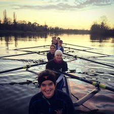 Senior women training on the Tideway