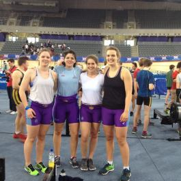 UCL at British Indoor Rowing Championships: winning silver in the girls team relay