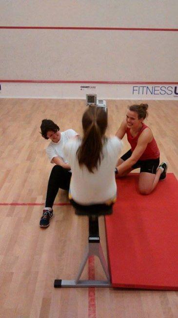 Senior women training for the British Indoor Rowing Championships