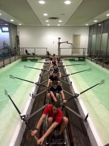 Senior men training in the 'tank'