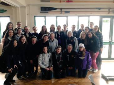 UCLBC Women's squad at WeHORR