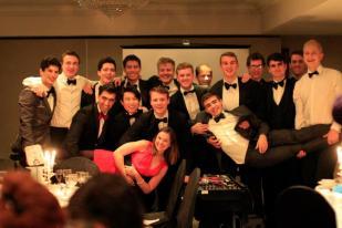Senior men's squad at Christmas dinner