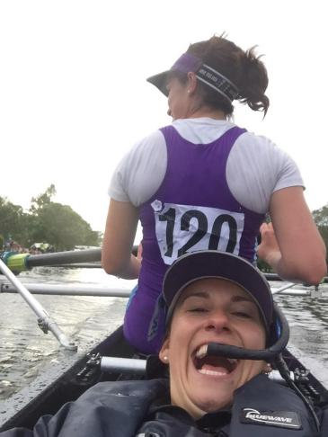 """Cox Florrie perfects the """"crossing the line as Champions"""" selfie at Reading Regatta"""