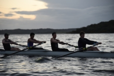 Novice Men return from evening outing, Portugal Training Camp 2016