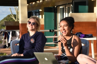 2016/17 Social Secretaries, Vicky Jones & Serena Dosanjh, at Portugal Training Camp 2016