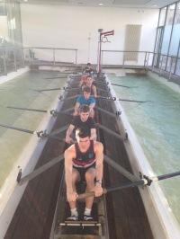 Novice men training at Hammersmith Tank, 2015