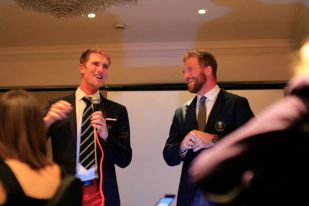 Will Satch and George Nash, Olympic Gold Medallists, at UCLBC Christmas dinner