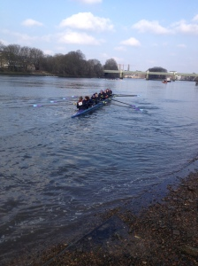 UCL Women's 2nd 8+ boating for the race